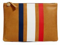 Fun brown striped clutch