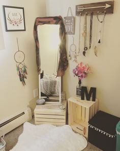 My little boho nook 🏹✨ Small Room Bedroom, Bedroom Decor, Boho Bedroom Diy, Apartment Decorating On A Budget, Cute Room Decor, New Room, House Rooms, Apartment Living, Girl Room