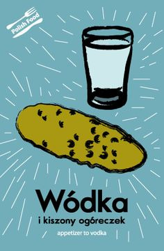 postcard from Poland... I have no idea what it's about, but it says wodka and has a pickle. I'm in.