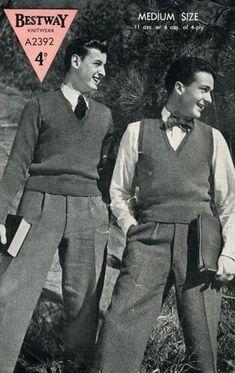 Mens Fashion Night Out 1940s Mens Fashion, Vintage Fashion, La Mode Masculine, Knit Fashion, Men's Fashion, Fashion Quotes, Moda Emo, Fashion Night, Fashion History