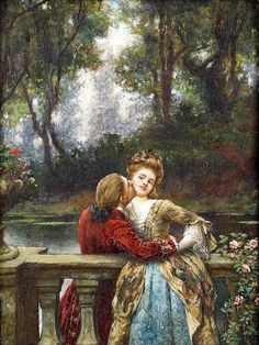 Breakspeare, William, (1855-1914), The First Kiss