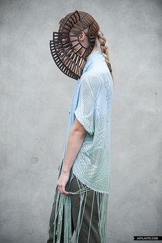 Sculptural Headpiece - creative millinery; conceptual fashion; wearable art // Stefanie Nieuwenhuyse