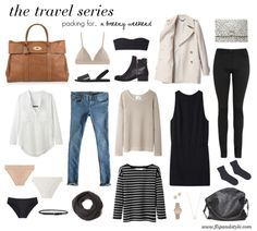 Packing perfection...two bottoms, three tops, a dress and a coat