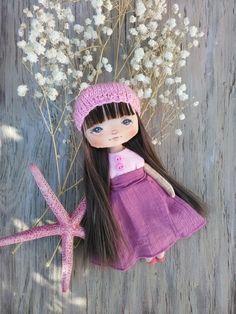 Cloth doll Art textile doll Collecting soft doll Fabric doll Rag doll OOAK…