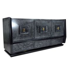 """Cerused """"W"""" Credenza or Sideboard after James Mont 