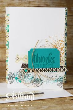 Touches of Texture stamp set, Stampin' Up!,  Artisan Blog Hop, Thank You - StampinByTheSea.com