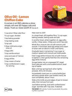 Olive oil Lemon Chiffon Cake
