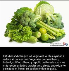 Vegetales verdes.