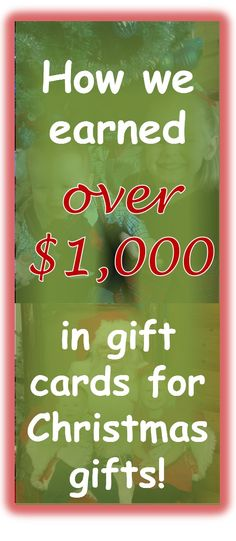 I definitely need to do a lot of these!  Find out how you can pay for your Christmas with gift cards and not go over budget for the holidays!