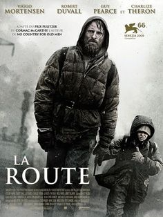 The Road - Directed by John Hillcoat. With Viggo Mortensen, Charlize Theron, Kodi Smit-McPhee, Robert Duvall. In a dangerous post-apocalyptic world, an ailing father defends his son as they slowly travel to the sea. Robert Duvall, Film Science Fiction, Fiction Books, La Route Film, Love Movie, Movie Tv, Bon Film, Films Cinema, Spider Man 2