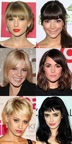 The best bangs for oval face shapes: http://beautyeditor.ca/2014/07/30/best-bangs-for-oval-face/