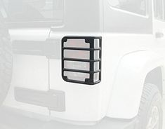Pair EAG Rear Tail Light Guard Covers 304 Stainless Steel Compatible with 07-18 Jeep Wrangler JK