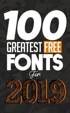 100 Greatest Free Fonts for 2019 - My best design list Graphic Design Fonts, Graphisches Design, Design Poster, Graphic Design Tutorials, Media Design, Graphic Design Inspiration, Creative Fonts, Cool Fonts, Creative Labs