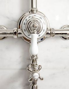 i want fixtures lik this for the kitchen • industrialized • Alkemie: A Ritzy and Glamorous Parisian Bathroom
