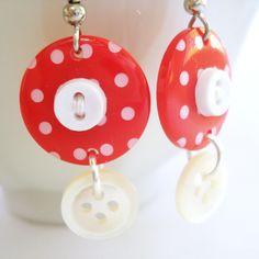 Button Earrings.