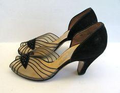 1940s Shoes Vintage Evening Pumps by VioletsEmporium on Etsy, $75.00
