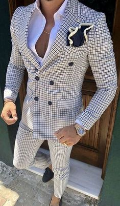 Check Men Suit Tailored Plaid Suits For Men, Mens Checkered Suit Gingham Tuxedo,. Check Men Suit Tailored Plaid Suits For Men, Mens Checkered Suit Gingham Tuxedo, Elegant Plaid Business Checkered Suit, Plaid Suit, Best Suits For Men, Cool Suits, Classy Suits, Suit For Men, Man Suit, Classy Style, Mode Costume