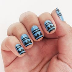 Painting this pattern on your nail is a cinch with a template. The trick? Use your cutting machine! Download the free template/cut file too.