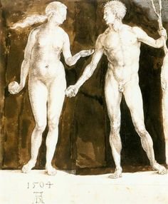Adam and Eve by DURER, Albrecht #art