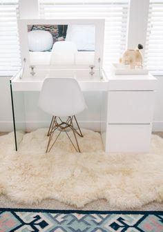 Cara Loren Master Bedroom Makeover Makeup Home Bedroom in dimensions 1123 X 1600 Master Bedroom With Makeup Vanity - A bedroom vanity may be a fabulous Home Bedroom, Bedroom Decor, Bedroom Ideas, Bedrooms, Bedroom Furniture, Furniture Makeover, Furniture Ideas, Furniture Chairs, White Furniture