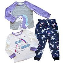 Unicorn 4t Member S Mark Girl S 3 Piece Fleece Pajama Set Fleece