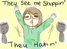 My friends thinck it's wierd that I ship same gender...