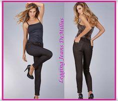 5535f7b3b Legging Jeans DeMillus versatilidade e conforto na composição de looks