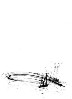 Original abstract ink drawing on paper A4 - Time running out