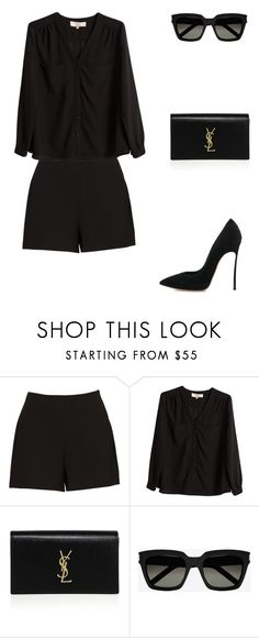"""Untitled #444"" by mitzi9 ❤ liked on Polyvore featuring Vanessa Bruno, Yves Saint Laurent and Casadei"