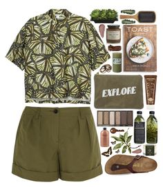 """""""Explore"""" by ladyvalkyrie ❤ liked on Polyvore featuring Monki, Burberry, Izola, Birkenstock, Crate and Barrel, Xen-Tan, PHAIDON, American Eagle Outfitters, Aveda and AMBRE"""