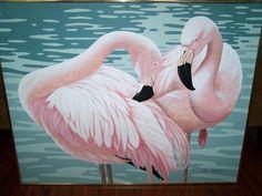 Vintage flamingo artwork - sold.