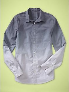 Dip-dye striped shirt (slim fit) | Gap