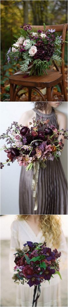 purple wedding bouqu