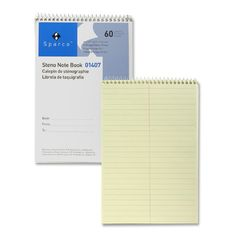 """Steno Notebook, Gregg Ruled, 60 Sheets, 6""""x9"""", Green"""