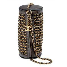 Chanel Mini Handbag Two Way Chain Around | From a collection of rare vintage handbags and purses at https://www.1stdibs.com/fashion/handbags-purses-bags/
