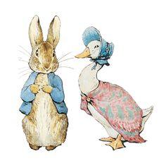 Peter Rabbit and Jemima Puddleduck