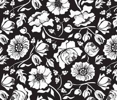BLACK RUSSIAN fabric by mag-o on Spoonflower - custom fabric IDEA GENERAL (VER MÁS BIEN LOS CONTORNOS, MENOS LOS DETALLES)