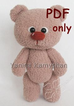 Baby Bear, knitted, PDF pattern