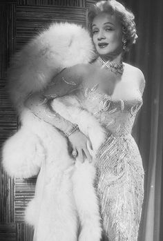 Marlene in a gown created by Jean Louis