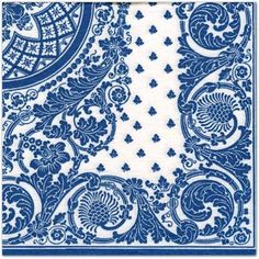 blue and white paper napkins - Google Search
