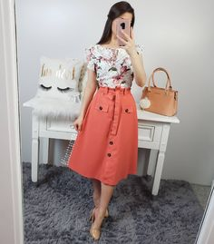 Swans Style is the top online fashion store for women. Modest Outfits, Classy Outfits, Skirt Outfits, Dress Skirt, Fall Outfits, Casual Dresses, Cute Outfits, Modest Wear, Jw Fashion