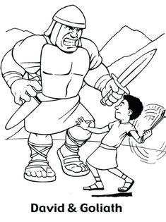 David And Goliath Coloring Pages Page To Print Ideas Printables