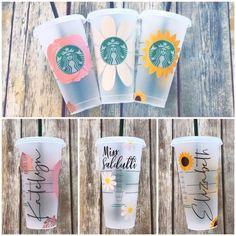 Your place to buy and sell all things handmade Starbucks Cup Gift, Starbucks Cup Design, Personalized Starbucks Cup, Custom Starbucks Cup, Personalized Cups, Starbucks Crafts, Starbucks Coffee Cups, Starbucks Venti, Cup Art