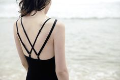 Love the back on this bamboo jersey nightie by Hopeless.