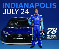 Look for the Auto-Owners #78 car this Sunday, July 24th. Martin Truex Jr. will take on Indianapolis Motor Speedway for the Brickyard 400, 3:00pm ET.