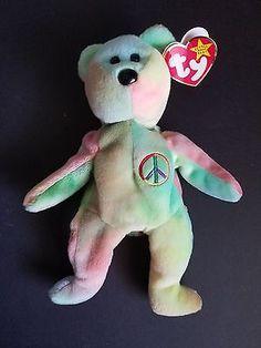 Beanie Babies Peace Peace Beanie Baby, Original Beanie Babies, Dinosaur Stuffed Animal, Texas, The Originals, House, Animals, Animales, Home