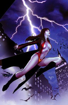 Vampirella 12 cover by PaulRenaud.deviantart.com