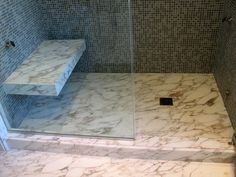 expert tile new york ny united states mosaic walls and floating slab shower seat - Shower Benches