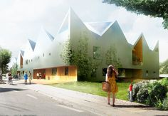 nord architects: healing architecture danish firm nord architects have won the competition for a new healthcare center for cancer patients.