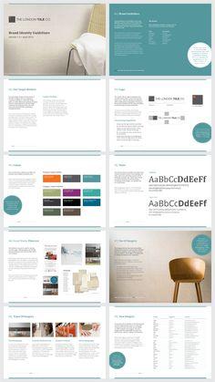 London Tile Brand Guidelines. - Amy Borrell Design.